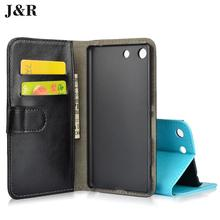 Buy Sony M5 Leather Case J&R Stand Flip Cover Sony Xperia M5 Aqua E5603 E5606 E5653 Wallet Bag Card Holder for $3.99 in AliExpress store