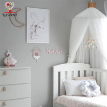 Buy 2017 summer new Baby bed curtain kids Mosquito Net children Cotton Crib Netting baby bedroom decoration baby photography props for $25.61 in AliExpress store