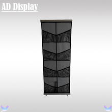 A4 Portable Nylon Mesh Pocket L Brochure Stand,Lightweight Advertising Display Literature Holder,Magazine Catalog Brochure Rack(China)