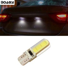 BOAOSI 1x Canbus Led T10 COB License plate Light Bulb For SUBARU Outback Tribeca Legacy Forester Impreza Car Styling