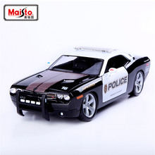 Brand New 1/18 Scale Car Toys 2006 Dodge Challenger Police Car Diecast Metal Model Toy For Gift/Collection -Free Shipping