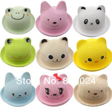 10pcs/lot NEW Baby Summer Hat Cute Cute Infant cartoon animal shapes Children bucket hats promotional cap top hat Free Shipping
