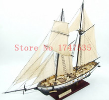 Free shipping wooden scale model ship Assembly Model kits Classical wooden sailing boat model HARVEY1847 scale wooden model
