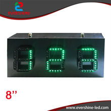 888 green LED count down digit number 8'' led display gas price led signs(China)