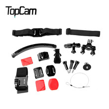 Dazzne KT-107 Universal Action Camera Riding Cycling Accessory Kit / Helmet Mount Wrist Strip Bike Handlebar Holder Bracket
