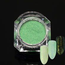 1pcs Holographic Nail Glitter Holo Flakes Sugar Shinny Tips Green Mermaid Designs Nail Decor Powder Sequins Dust Manicure SA369