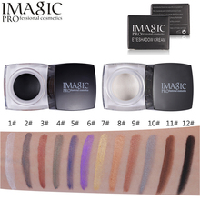 IMAGIC 12 Colors Shimmer Matte Eyeshadow Cream Palette Make Up Waterproof Long-lasting Mineral Eye Shadow Gel Glitter Makeup
