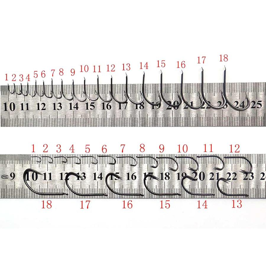 18 hooks size Information on