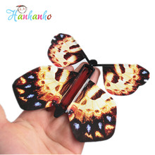 New Hot Magic Flying Butterfly  Wind UP Butterfly Easy To Do Magic Tricks Props Toys For Children Surprising Gift