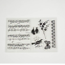 Music Staff Birds Clear Transparent Stamp DIY Scrapbooking/Card Making/Christmas Decoration Supplies