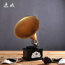 Creative Resin Phonograph Model Make Old Technology Gifts Ornaments Crafts Furnishing Articles 1274(China)