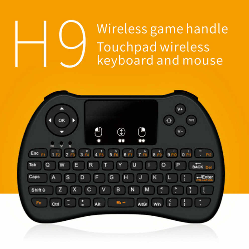 H9 2,4 GHz Беспроводная мини-клавиатура Fly Air Mouse Touchpad для Android Google TV Box TZ Standard edition