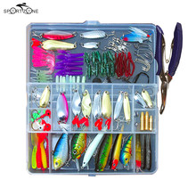 73/101/132/232Pcs Fishing Lures Set Mixed Minnow Popper Spoon Hooks Fish Lure Kit In Box Isca Artificial Bait Fishing Gear Pesca(China)