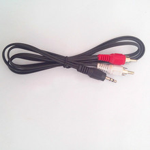 2pcs Line 3.5mm Audio turn double lotus line computer audio line one point two
