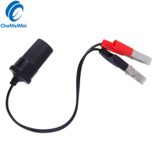 High Quality 12 Volt Battery Terminal Clip-on Car Cigar Cigarette Lighter Power Socket Adapter Plug Free Shipping