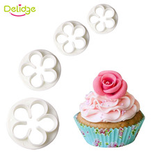 Delidge 2PCS/3PCS/4PCS Many Kinds Of Plastic Cookie Mould DIY Fondant Cutter Biscuit Tool 3D Sugarcraft Cake Decorating Mold(China)