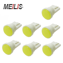 10pcs Ceramic Car Interior LED T10 COB W5W Wedge Door Instrument Side Bulb Lamp Car Light Blue/Green/red/Yellow/Pink Source 12V