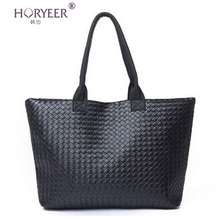 sac a main femme Weave Handbag Hot Women PU Leather Cheap Handbag Tote Shoulder Bags Large Capacity PU Weave Bags Fashion Design