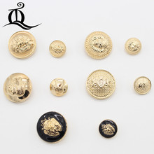 Hot sale 5pcs/lot 13-25mm new fashion decorative buttons high quality gold buttons for men shirt suit overcot sewing accessories