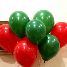 50 pcs Latex Helium Round balloons Christmas balloon 12''2.8g Thick Pearl green red wedding balloons party Christmas decoration