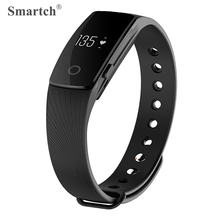 Smartch V05C Smart Wristband Fitness Tracker Vibration Alarm Pedometer Heart Rate Monitor Bracelet Bluetooth 4.0 Smart Band