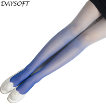 Buy DAYSOFT Fashion Women Sexy Tights Velvet Candy Color Gradient Opaque Stockings Pantyhose Seamless Tights Hosiery Female Pantys