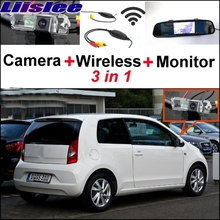 Liislee For SEAT Mii VW Up Citigo Wireless Receiver + Special Rear View Camera + Mirror Monitor Easy DIY Back Up Parking System(China)