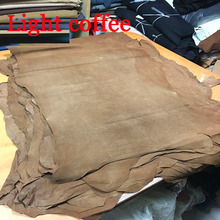 Light coffee Genuine pig split suede leather material whole piece(China)