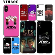 YIMAOC KIDS SEE GHOSTS kanye Soft TPU Black Silicone Case for iPhone X or  10 8 7 6 6S Plus 5 5S SE 59ea9193bad6