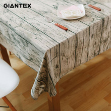 GIANTEX Wood Grain Pattern Decorative Table Cloth Cotton Linen Tablecloth Dining Table Cover For Kitchen Home Decor U1098(China)