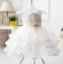 Baby Girl Princess Dress Infant Wedding Party Dresses Girls Clothes Bridesmaid Kids Bling Costume Children Frock 1 2 3 4 5 Years