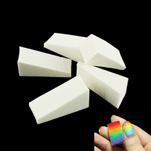 5pcs Rainbow Gradient Nails Soft Sponges for Color Fade Manicure Nail Art Accessories #299