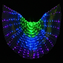 2017 New Performance Prop Women Dance Accessories Girls DJ LED Wings Light Up Wing Costume LED Butterfly Wings