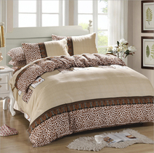 four piece set bedding a family of four Linen quilt Set Bedclothes Set Fitted sheets high quality