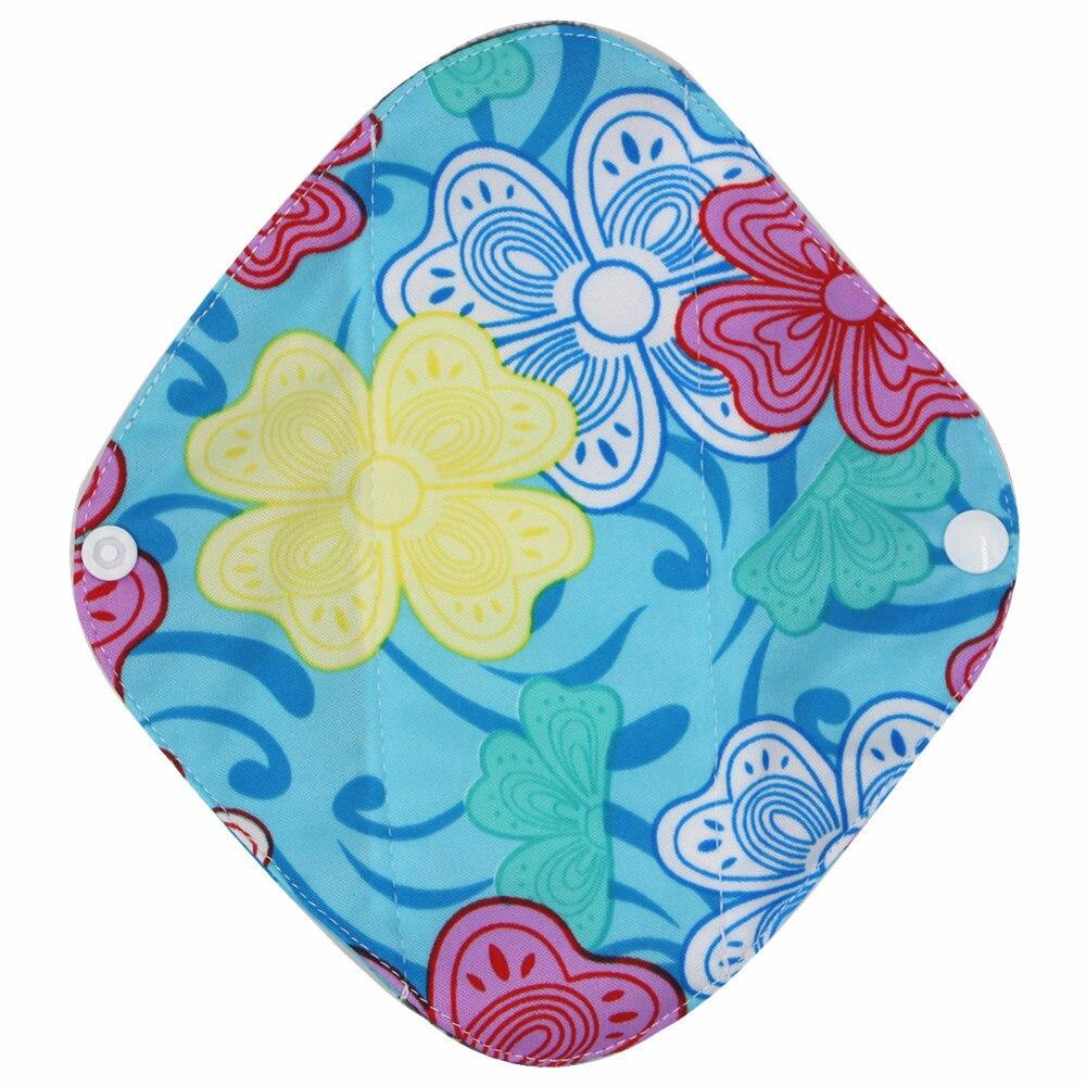 New Reusable Bamboo Charocoal Washable Menstrual Pad Mama Sanitary Towel Pad Practical Feminine Hygiene Product 1pc Pretty 16