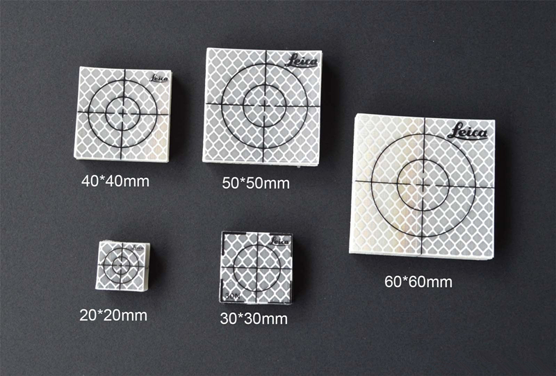 60pcs 50 x 50 mm Reflector Sheet Reflective Tape Target for total station New<br>
