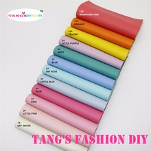 12pcs-High Quality NEW DIY candy color embossed PU leather/synthetic leather 20x22cm per pcs(CAN CHOOSE COLOR)