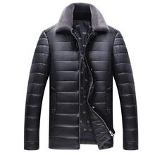 Mens Mink Coat Jacket Leather With Fur Motorcycle Jacket Leather  Leather And Cotton Jaket  Men's Leisure Men's Leather Jackets