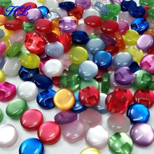 HL 100pcs 12mm Mix Color resin Shirt Buttons Pearl Buttons Garment Sewing Accessories DIY crafts A102(China)