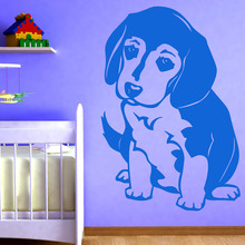 Most Popular Animal Dog Home Decor Hollow Out Cute Beagle Wall Stickers Babys Bedroom Wall Decor Decal(China)