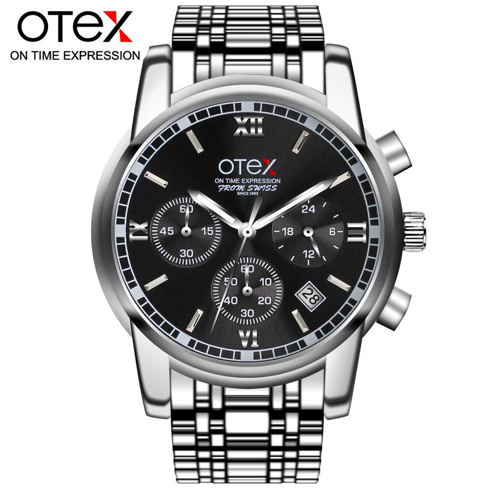 Mens luxury gold wristwatches male brand watches quartz man clocks waterproof stainless steel fashion Business luminous calendar<br>
