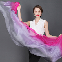 High quality 100% mulberry silk scarf natural real silk Women Long scarves Shawl Female hijab wrap solid color 180x70CM(China)