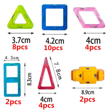 30 pcs / set High quality Magnetic mini building blocks Magnet toys toddlers Designer Magnet plastic educational toys