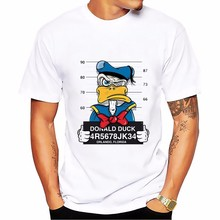 Donald Duck Goofy t-shirt MEN TOPS short sleeve casual funny dog mouse cartoon tshirt homme comfort plus size t shirt