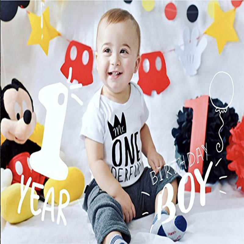 Baby Boy 1st Birthday Outfit.Ysculbutol Mr One Derful Baby Boys 1st Birthday Bodysuit