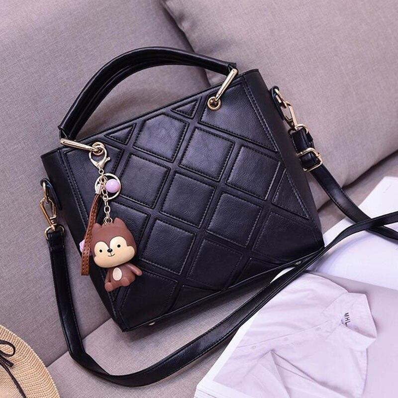 New Arrivals Women Leather Handbags PU Plaid Shoulder Bag Brand Designer Ladies Bag Tote Women Messenger Bags High Quality<br><br>Aliexpress