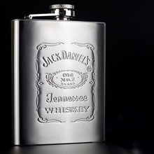 High Quality Portable Stainless Steel Hip Flask Whiskey Flask Bottle Mug Engraving Wisky Jerry Can With Box As Gift 1pc