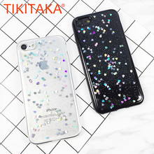 Buy iPhone 7 7 Plus Case Luxury Women Love Heart Bling Glitter Case iPhone 6 6s Plus Foil Transparent Cute Coque Capa for $1.22 in AliExpress store