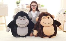 100% new large 50cm cartoon fat orangutan plush toy soft throw pillow ,christmas gift b1445(China)