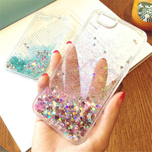Buy Lewinsky Love Heart Stars Glitter Stars Phone CaseS iPhone 5 6 7 8 7Plus Dynamic Liquid Quicksand Soft TPU Back Cover case for $1.43 in AliExpress store